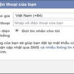 Cách thêm số điện thoại vào Facebook cá nhân