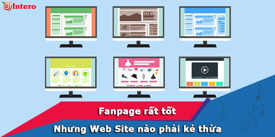 Lợi ích của Website mà trang Fanpage không có
