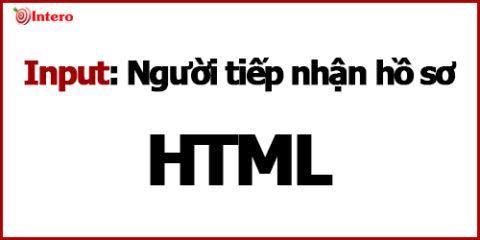 Phần tử Input trong Form Html cơ bản